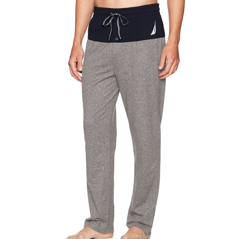Nautica Mens Colorblocked Banded Pajama Lounge Pants