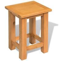 "vidaXL End Table Solid Oak 10.6""x9.4""x14.6"""