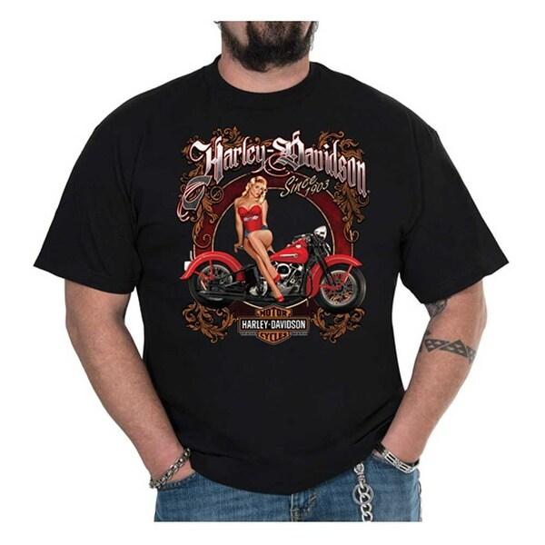 Shop Harley Davidson Men S Vintage Pinup Crew Neck Short