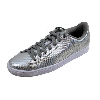 66a9f140a9d061 Shop Puma Men s Basket Classic Holographic Puma Silver 362860 02 Size 8.5 -  Free Shipping Today - Overstock - 22919421