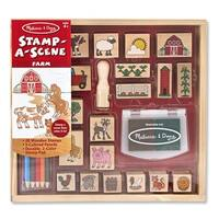 Melissa & Doug 8592 Stamp-A-Scene Farm Set, Age 4+