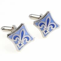 Blue Fleur De Lis French Cufflinks