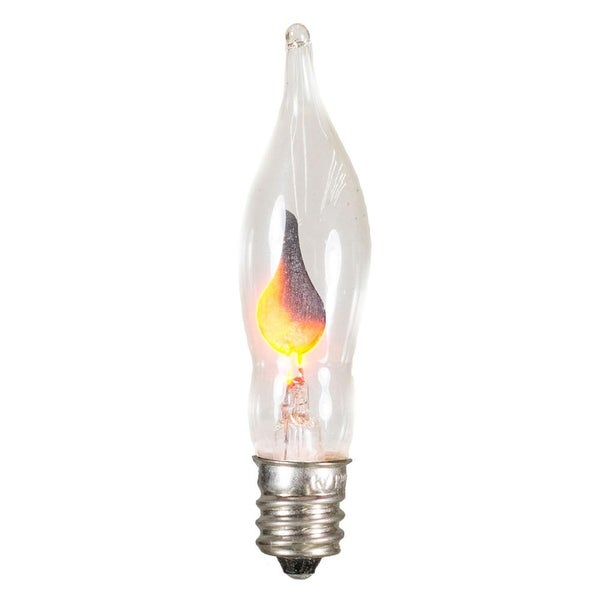 Club Pack of 25 Flicker Flame C7 Christmas Replacement Light Bulbs