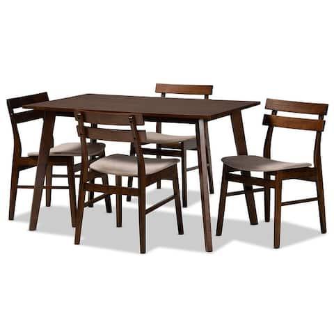 Eleri Mid-Century Modern Transitional 5-Piece Dining Set
