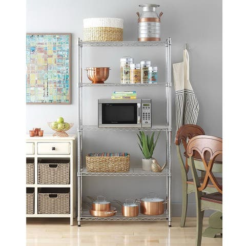 5-Layer Chrome Plated Iron Shelf