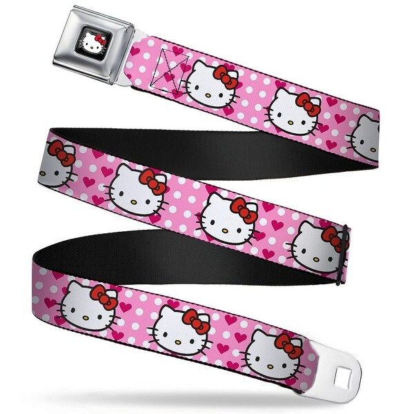 Hello Kitty W Red Bow Full Color Black Hello Kitty W Dots & Hearts Baby Seatbelt Belt