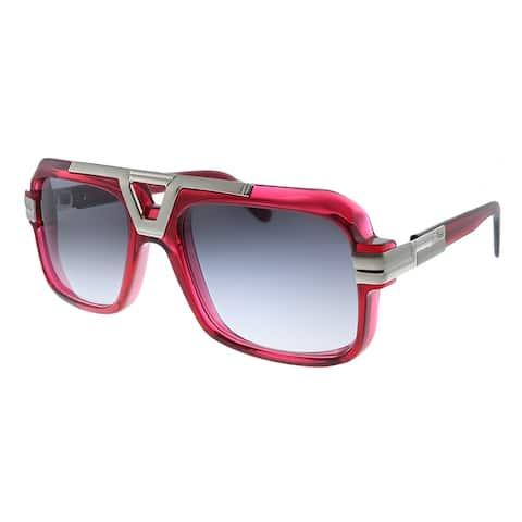 Cazal Cazal 664 004SG Unisex Red Frame Grey Gradient Lens Sunglasses