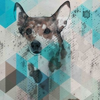 Marmont Hill Dog Walker Irena Orlov Painting Print on Canvas