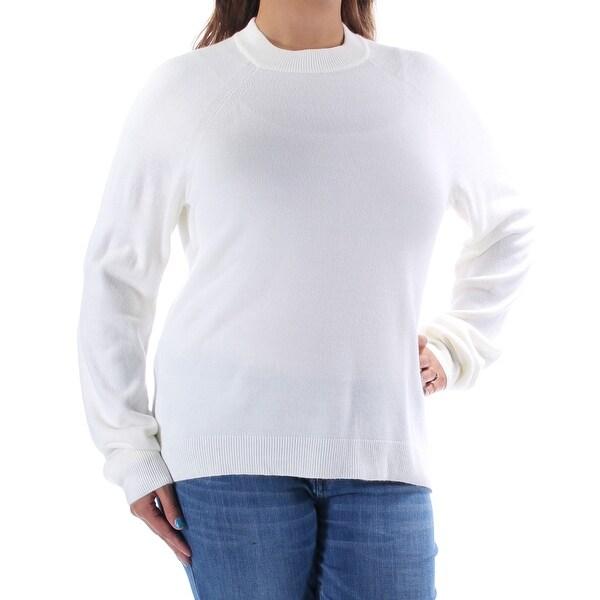 KAREN SCOTT  17 Womens 1319 White Crew Neck Long Sleeve Casual Sweater XL  B+B dc022353a
