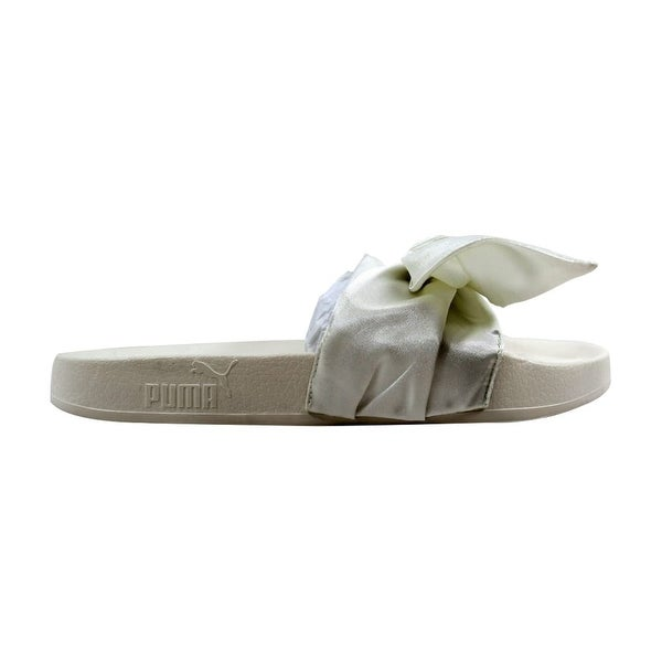 check out 70e4c 45ba2 Shop Puma Women's Bow Slide Marshmallow/Puma Silver Rihanna ...