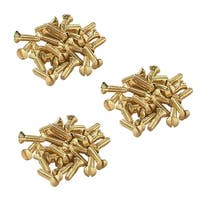 Brass Switchplate Screws 6/32 x 1/2 Slotted Oval Head Set of 75