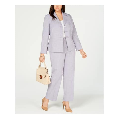 LE SUIT Purple Straight leg Pant Suit Size 16W
