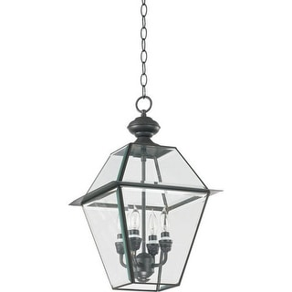 "Quorum International Q728-4 Duvall 12"" Wide 4 Light Pendant with Glass Shade"