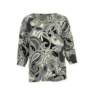 JM Collection Women's Paisley Print Blouse - Mystic Paisley