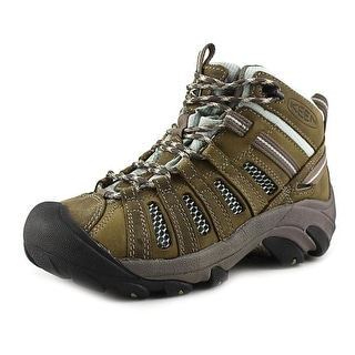 Keen Voyageur Mid Women Round Toe Leather Brown Hiking Boot