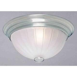 "Volume Lighting V7824 3 Light 13"" Flush Mount Ceiling Fixture with Frosted Mel R"