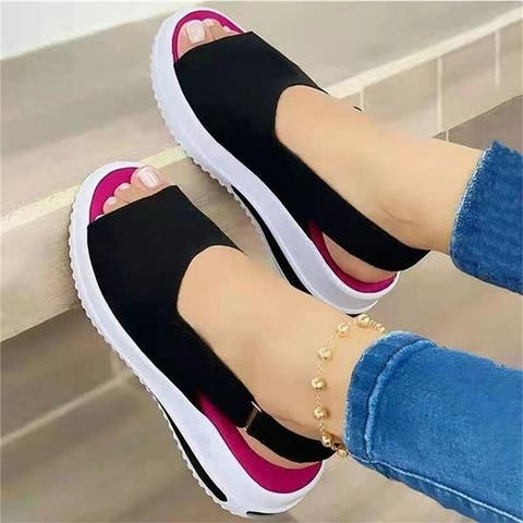 Chunhe Womens Soft Leather Sandals Comfortable Flat Shoes Non-Slip Open Toe Summer Slippers
