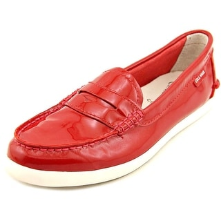 Cole Haan Pinch Lte Women Moc Toe Patent Leather Red Loafer