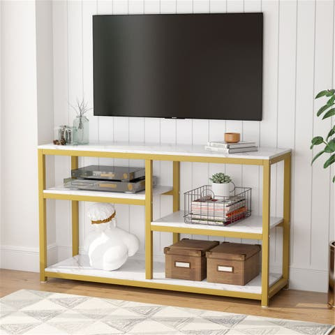 TV Stand, Console Table with Storage Shelves