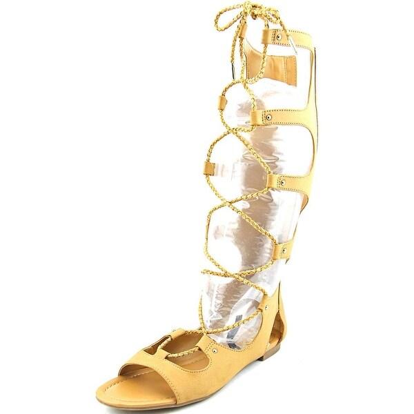 Bar III Rayanne Women Open Toe Synthetic Tan Gladiator Sandal