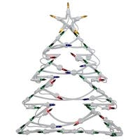 "18"" Lighted Tree Christmas Window Silhouette Decoration (Pack of 4)"