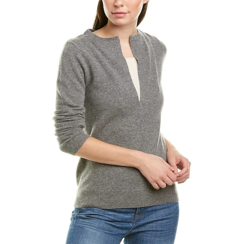 Incashmere Cashmere Sweater - MID HTR GREY/WHISPER WHITE