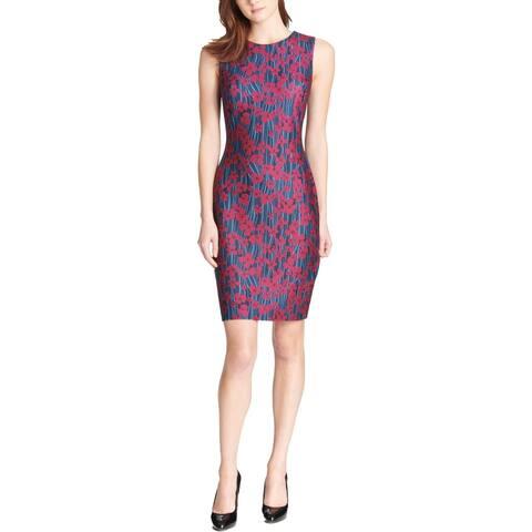 Tommy Hilfiger Womens Heartland Scuba Dress Sleeveless Floral