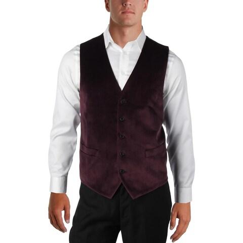 Lauren Ralph Lauren Mens Suit Vest Velvet Paisley - XL