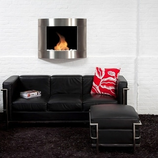 Bio Blaze BB-D2I Diamond Type 2 Wall Mount Fire Place, Stainless - Silver