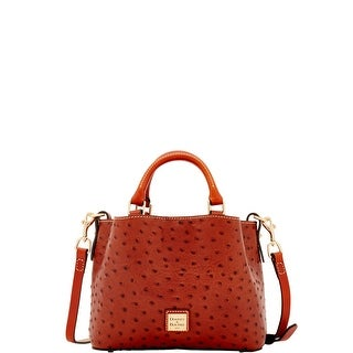 Dooney & Bourke Ostrich Embossed Leather Mini Barlow Top Handle Bag (Introduced by Dooney & Bourke at $248 in May 2017)
