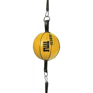 """Title Boxing Max Recoil Leather Punch Training Double End Bag - 6"""""""