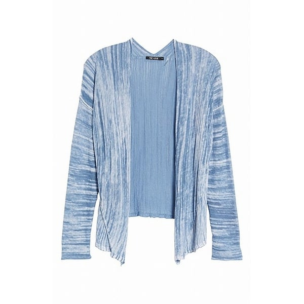 Nic + Zoe Blue Women's Size Large L Cardigan Striped Sweater