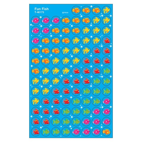 (12 Pk) Superspots Stickers Fun Fish