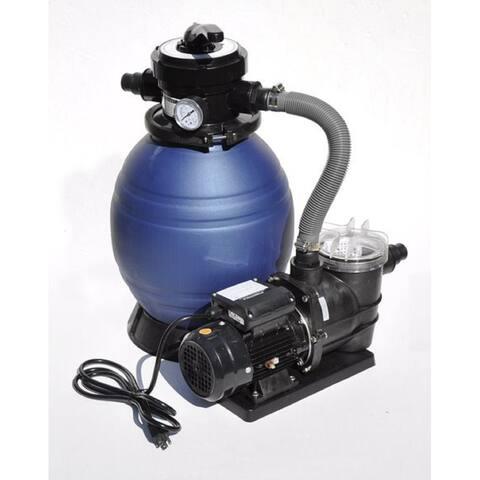 "12"" Sand Filter Combo - 0.33 HP - PREFILTER"