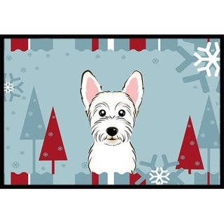 Carolines Treasures BB1722JMAT Winter Holiday Westie Indoor & Outdoor Mat 24 x 36 in.