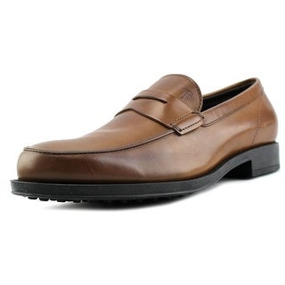 Tod's Mocassino Gomma Classic Round Toe Leather Loafer