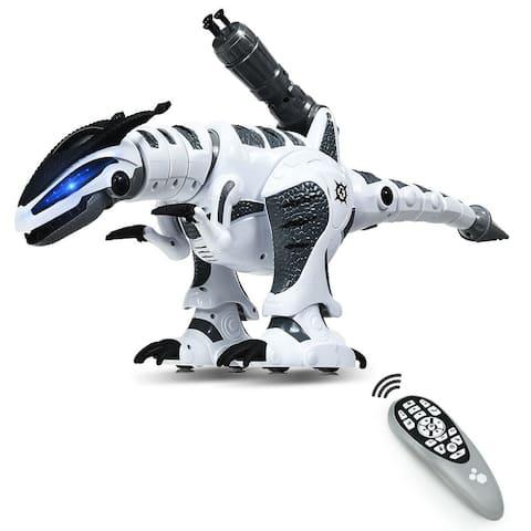 Kids Intelligent Interactive Remote Controller Robot Dinosaur-White