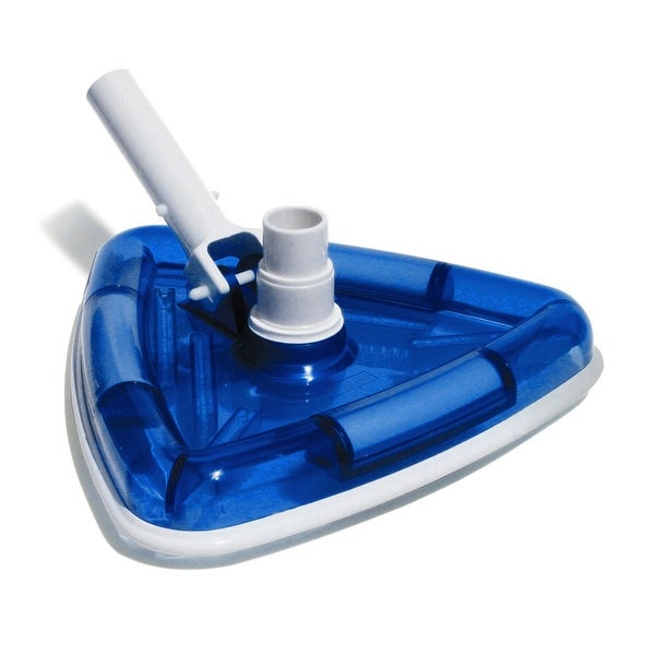 Shop 11 Deluxe Triangular Transparent Blue Weighted Vinyl Liner Swimming Pool Vacuum Head