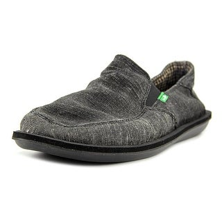 Sanuk Vice Men  Round Toe Canvas Black Loafer