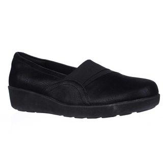 Easy Spirit Kaleo Slip On Comfort Flats - Black/Black