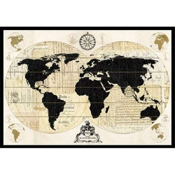 Shop vintage world map poster print by devon ross 10 x 14 small vintage world map poster print by devon ross 10 x 14 small gumiabroncs Image collections