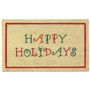 Holiday Greeting Welcome Mat