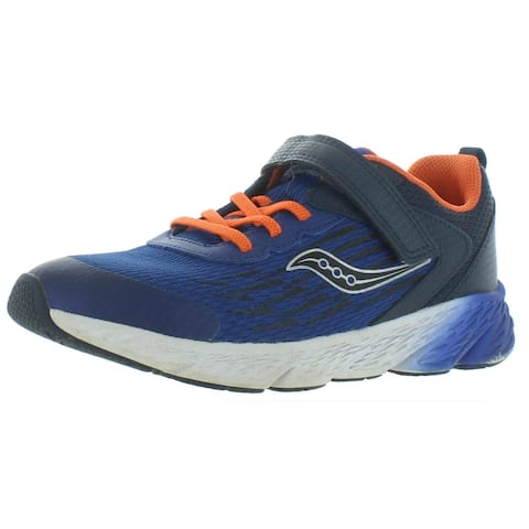 Saucony Boys S-Wind A/C Running Shoes Leather Performance - Navy