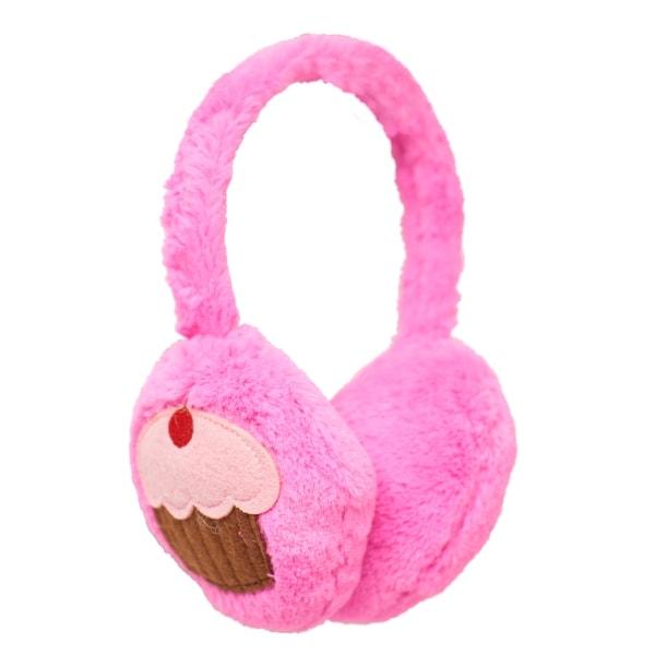 Beverly Hills Teddy Bear Co. Pink Plush Cupcake Earmuffs