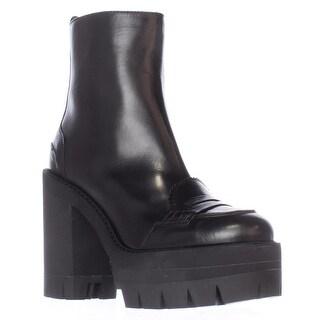 No21 8660 Lug Sole Oxford Ankle Boots - Black