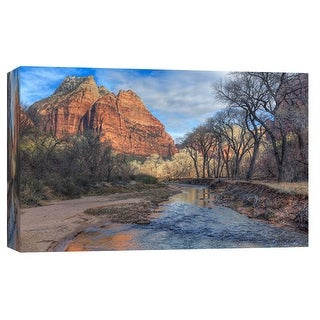 "PTM Images 9-101949  PTM Canvas Collection 8"" x 10"" - ""Zion Creek"" Giclee Forests and Mountains Art Print on Canvas"