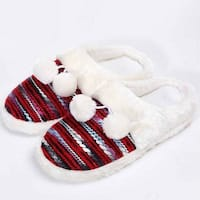 Mad Style Red Colorful Cozy Knit Slippers