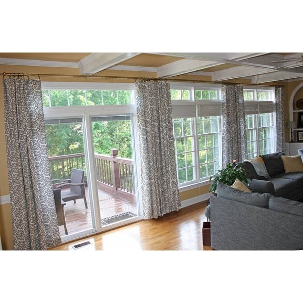 Top Product Reviews For Adjustable 12 To 20 Foot Patio Door Curtain Rod 240 5323653 Overstock
