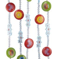 Club Pack of 12 Sesame Street Characters Beaded Novelty Christmas Garlands 6' - multi