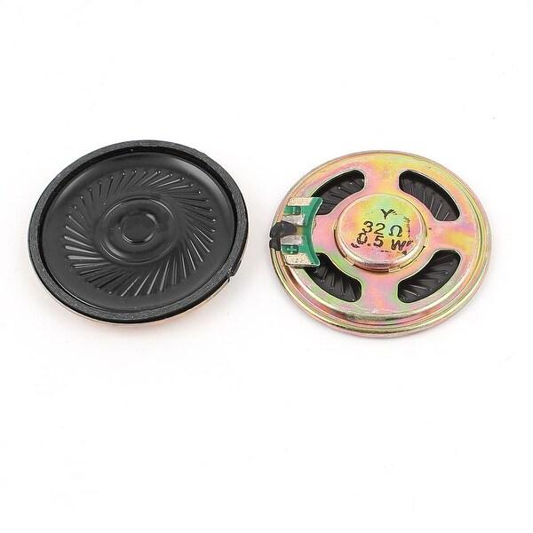 Unique Bargains 2Pcs 0.5W 32Ohm 40mm Inside Magnet Magnetic Electronic Speakers Trumpet